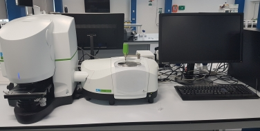 FT-IR Microscopy System with Spectrum Two Spotlight™ IR microscope systems are designed to meet the challenges of an expanding laboratory by generating high quality, reproducible data from a variety of sample types. The Spotlight encompasses intelligent technology and simplicity in operation to take on today's challenges and those to come. http://www.perkinelmer.co.uk/product/spotlight-200i-sp2-system-na-l1862105